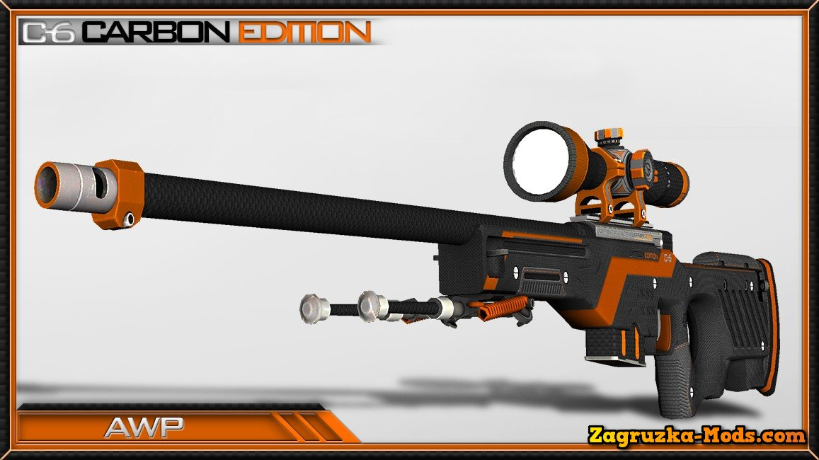 Skin AWP C-6 Carbon Edition for CS:GO