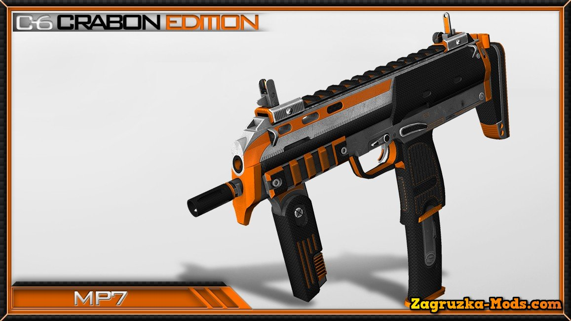 Skin MP7 C-6 Carbon Edition for CS:GO