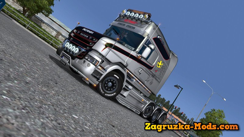 Scania T Longline V8 Vabis v1.0 for ETS 2