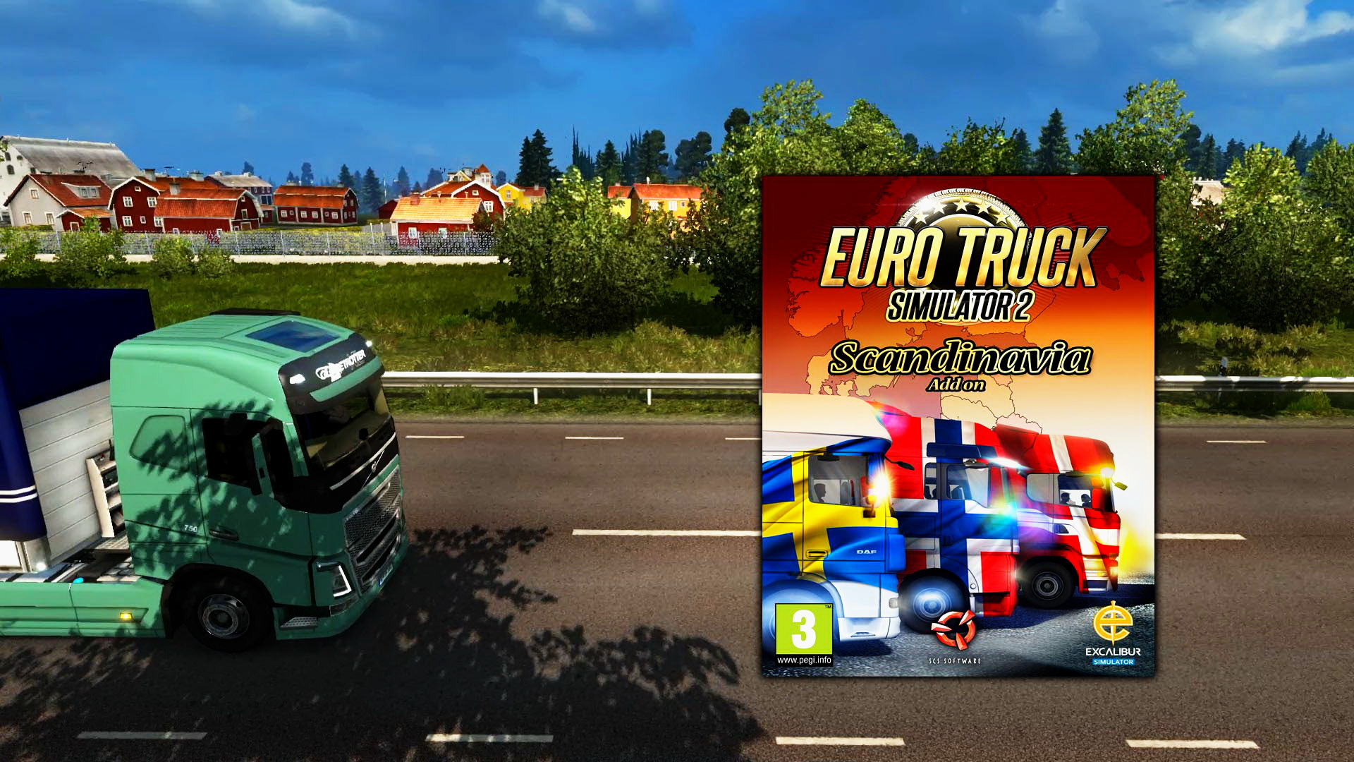 Unofficial trailer for DLC Scandinavia + New details for ETS 2