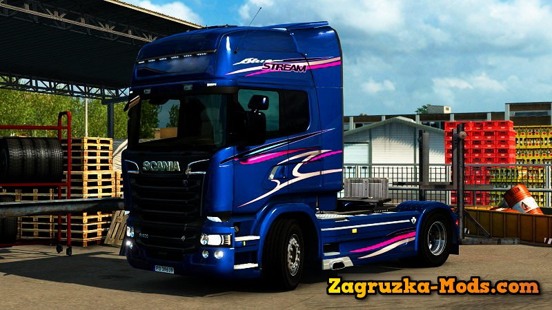 Scania Streamline Blue Stream Limited Edition Skin + Interior for ETS 2