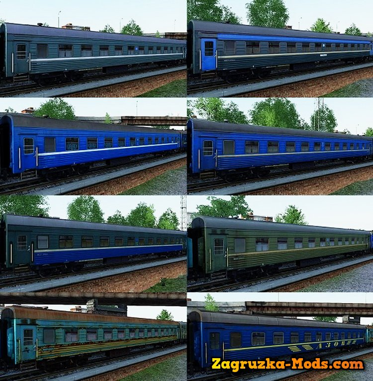 Passengers Wagons Platskart Pack v1.0 for Train Simulator 2015