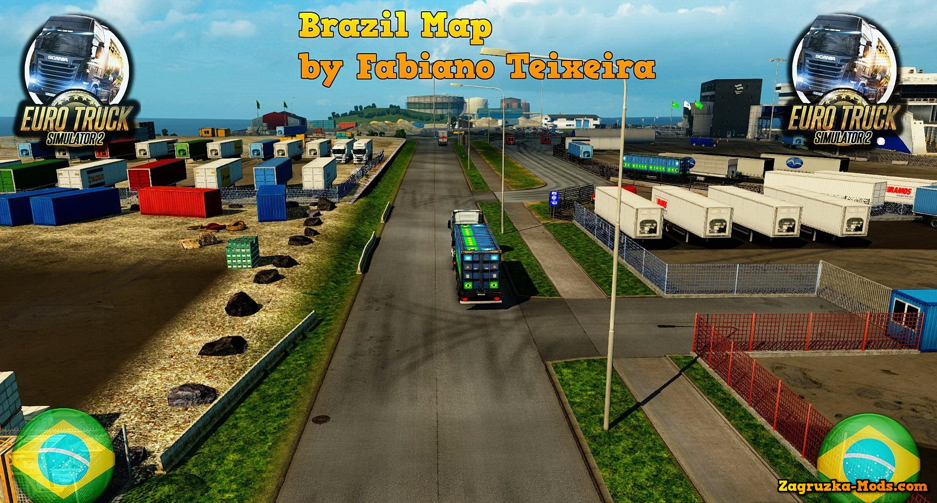 Brazil Map v4.4 by Fabiano Teixeira for ETS 2