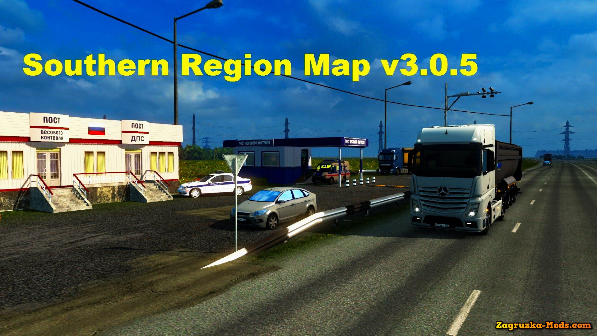 Southern Region Map v3.0.5 for ETS 2