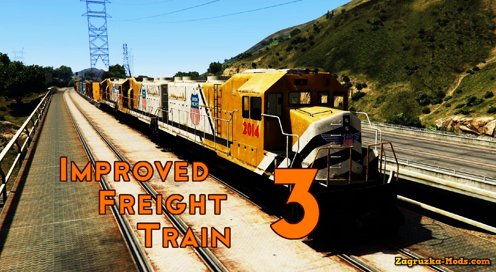 Improved freight train v3.5 for GTA 5