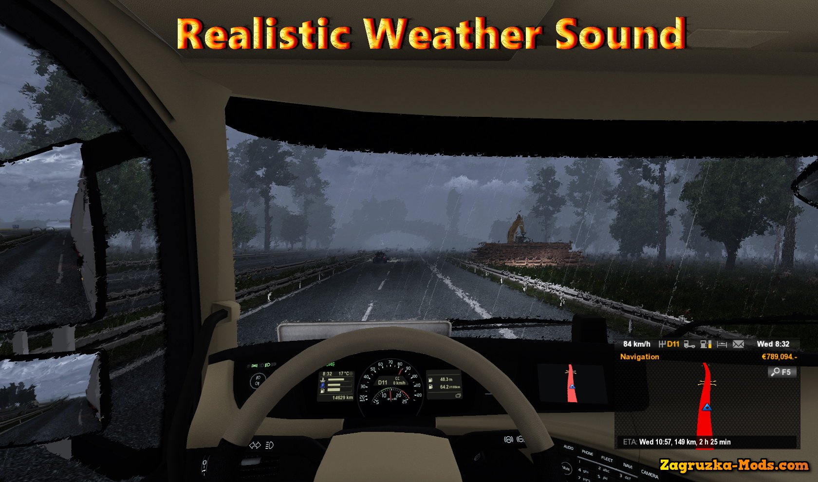 Realistic Weather Sound v1.7.3 by nIGhT-SoN for ETS 2
