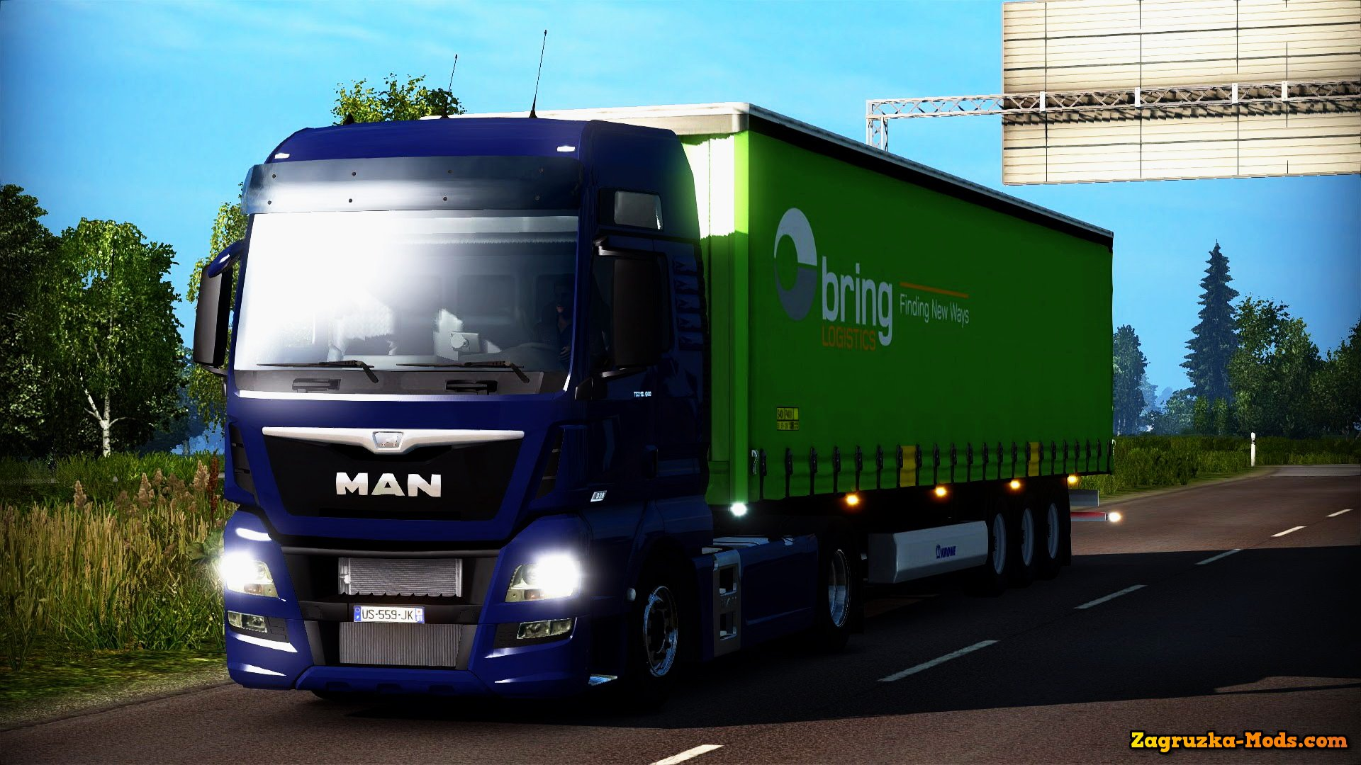 MAN TGX Euro 6 v1.3 by MADster for ETS 2