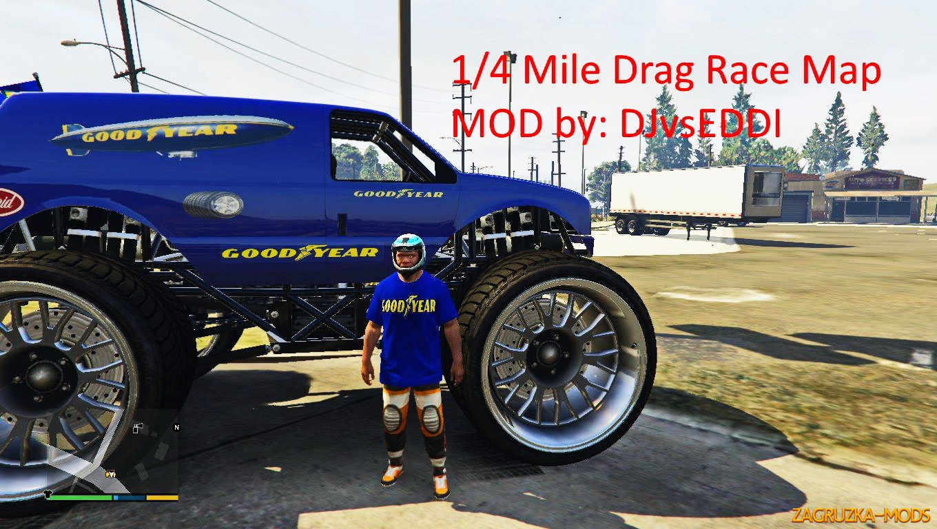 1/4 Mile Drag Race Map v1.0 for GTA 5