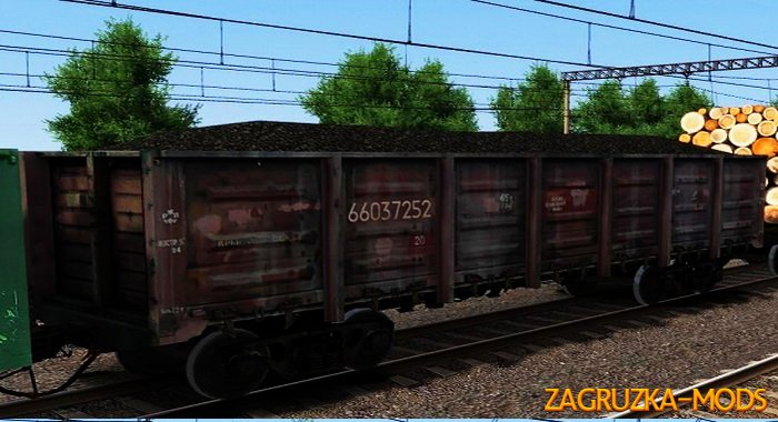 Wagons Poluvagon Pack v1.0 for Train Simulator 2015