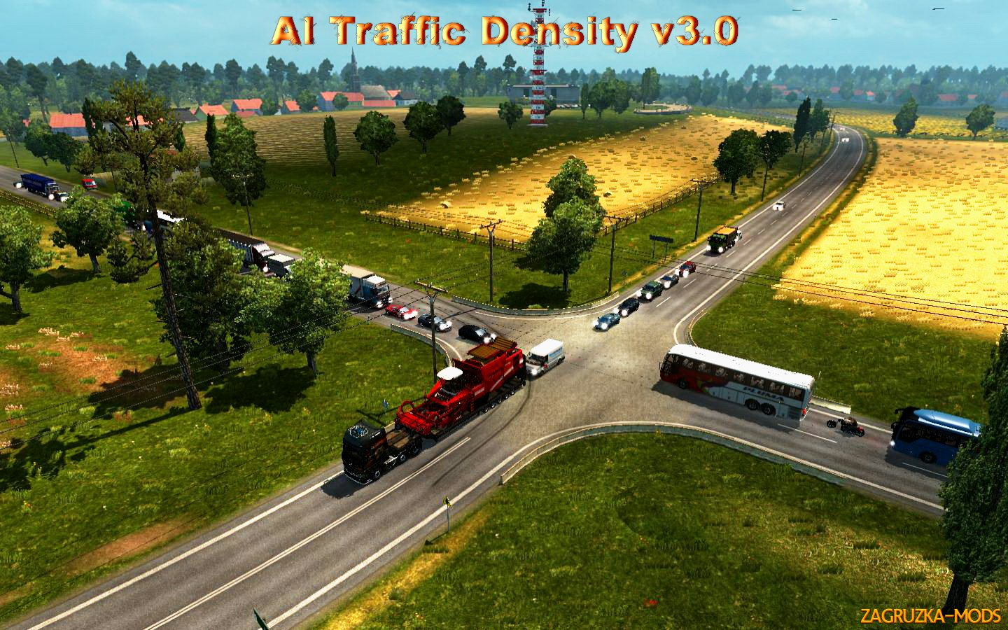 AI Traffic Density v3.0 for ETS 2
