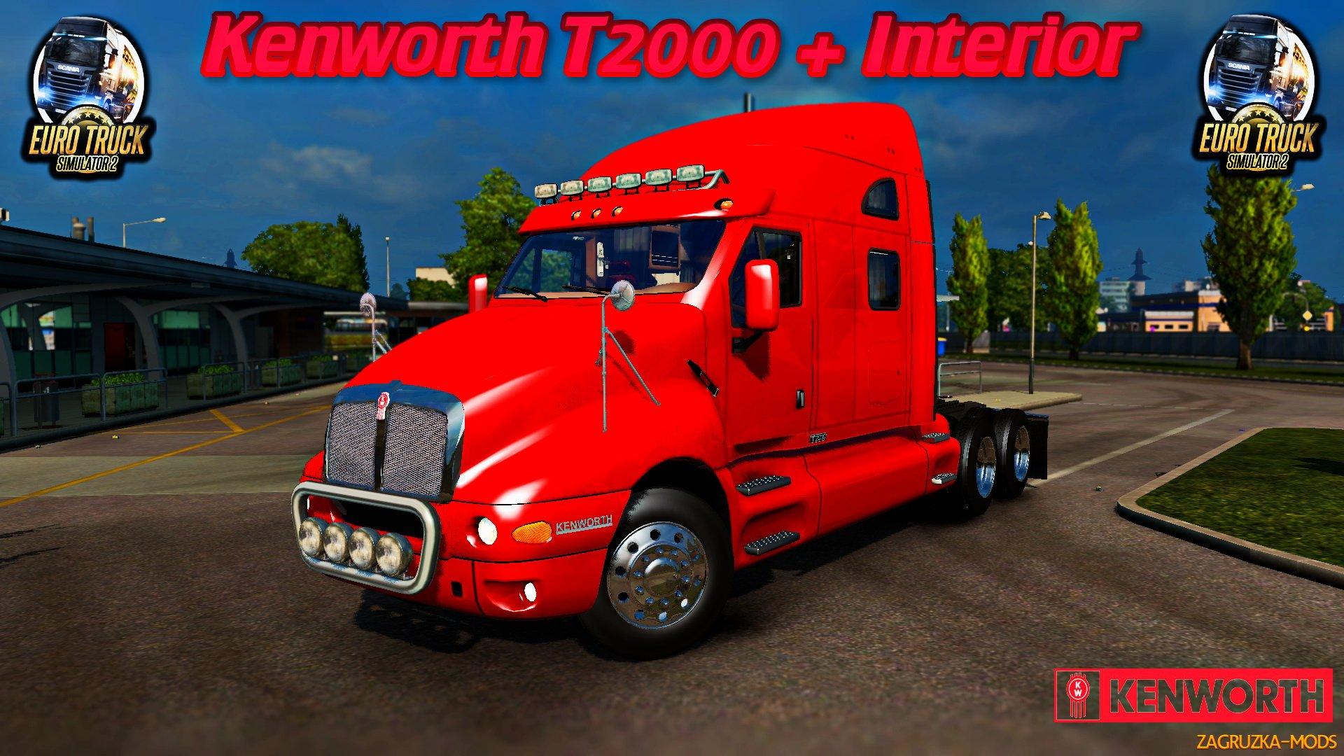 Kenworth T2000 + Interior [1.35.x]