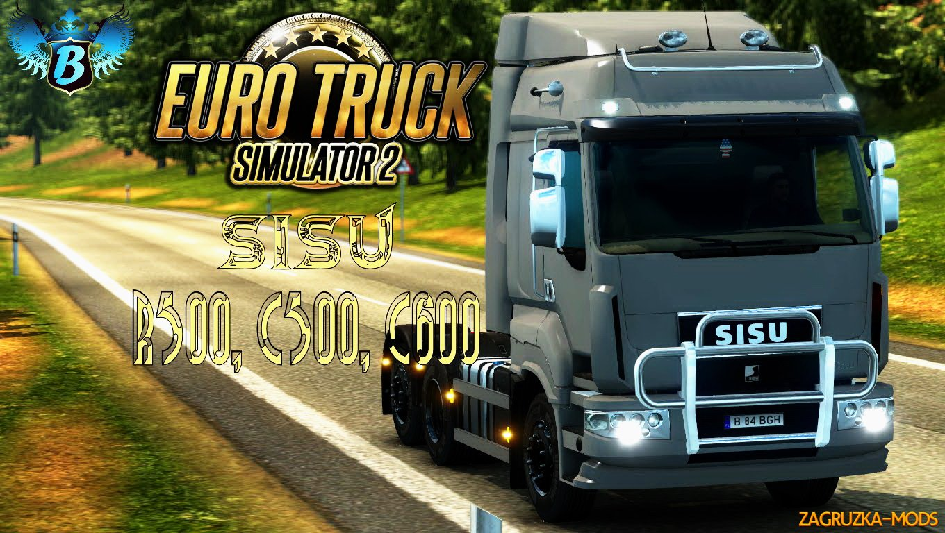 Sisu R500, C500 and C600 v1.1.8 (1.25.x) for ETS 2