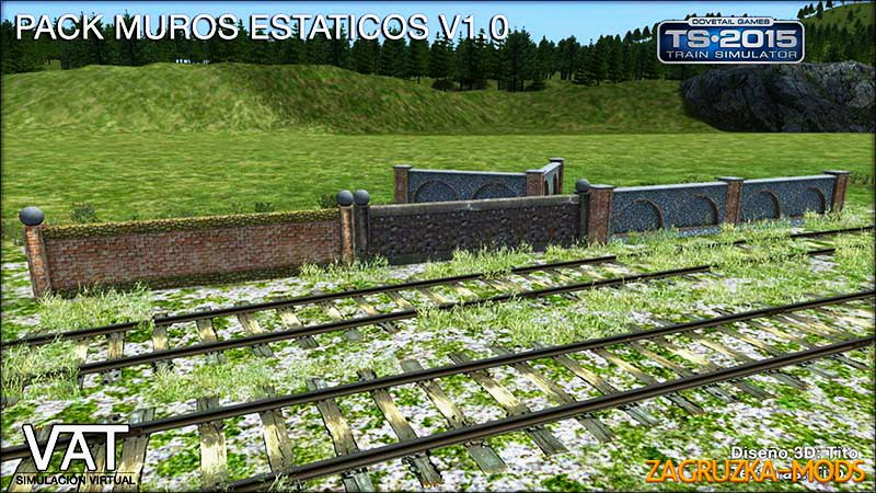 Static Walls Pack v1.0 for Train Simulator 2015