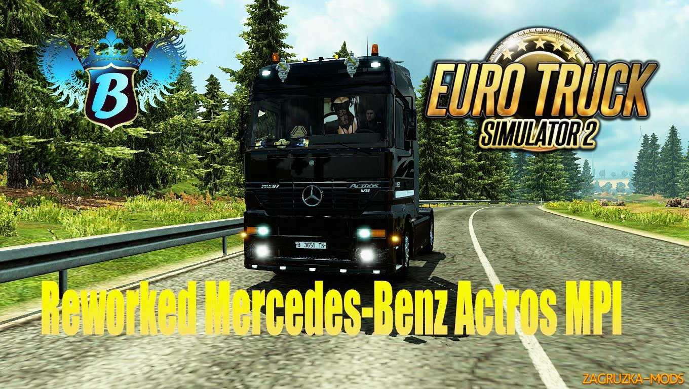 Reworked Mercedes-Benz Actros MPI by Solaris36 for ETS 2
