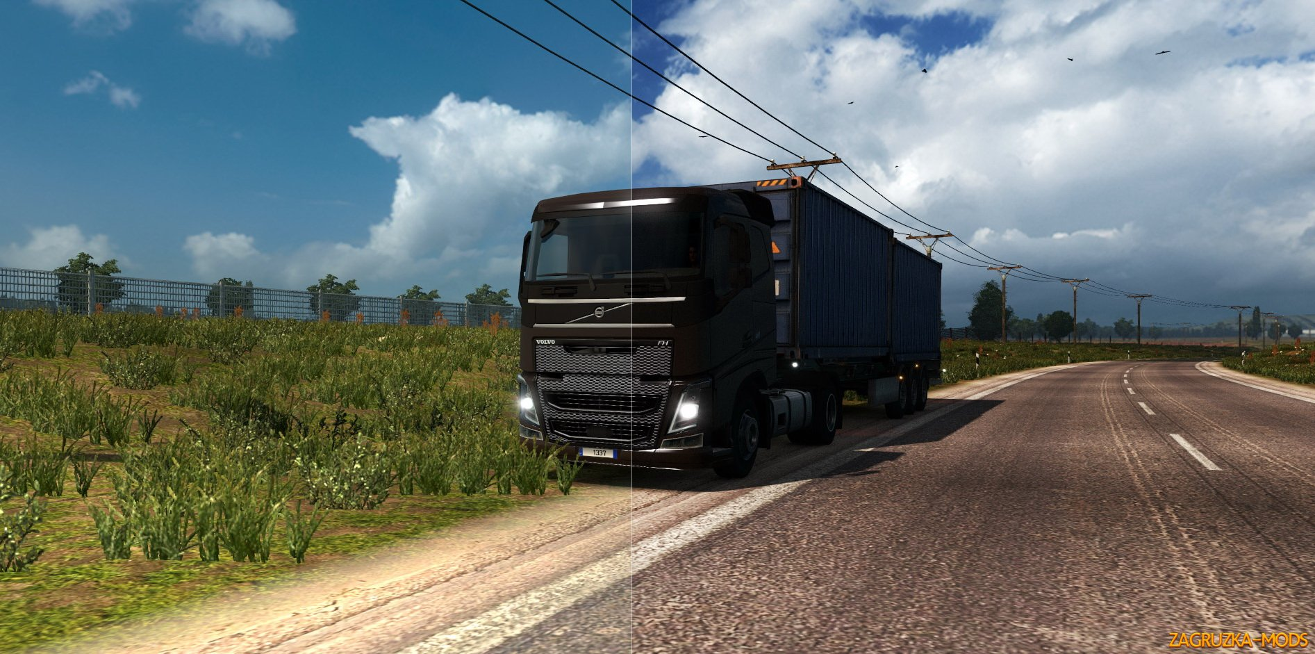 Hard Grain Contrasted Reshade & Sweet FX v1.0 for ETS 2
