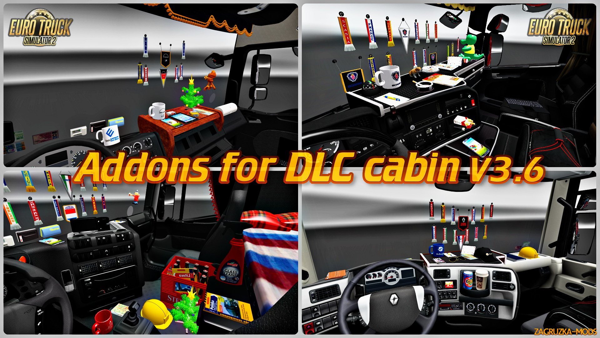 Addons for DLC cabin v3.6 for ETS 2