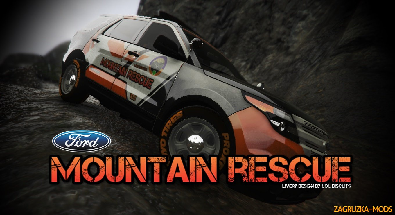Ford Explorer Mountain Rescue Livery v1.0 for GTA 5