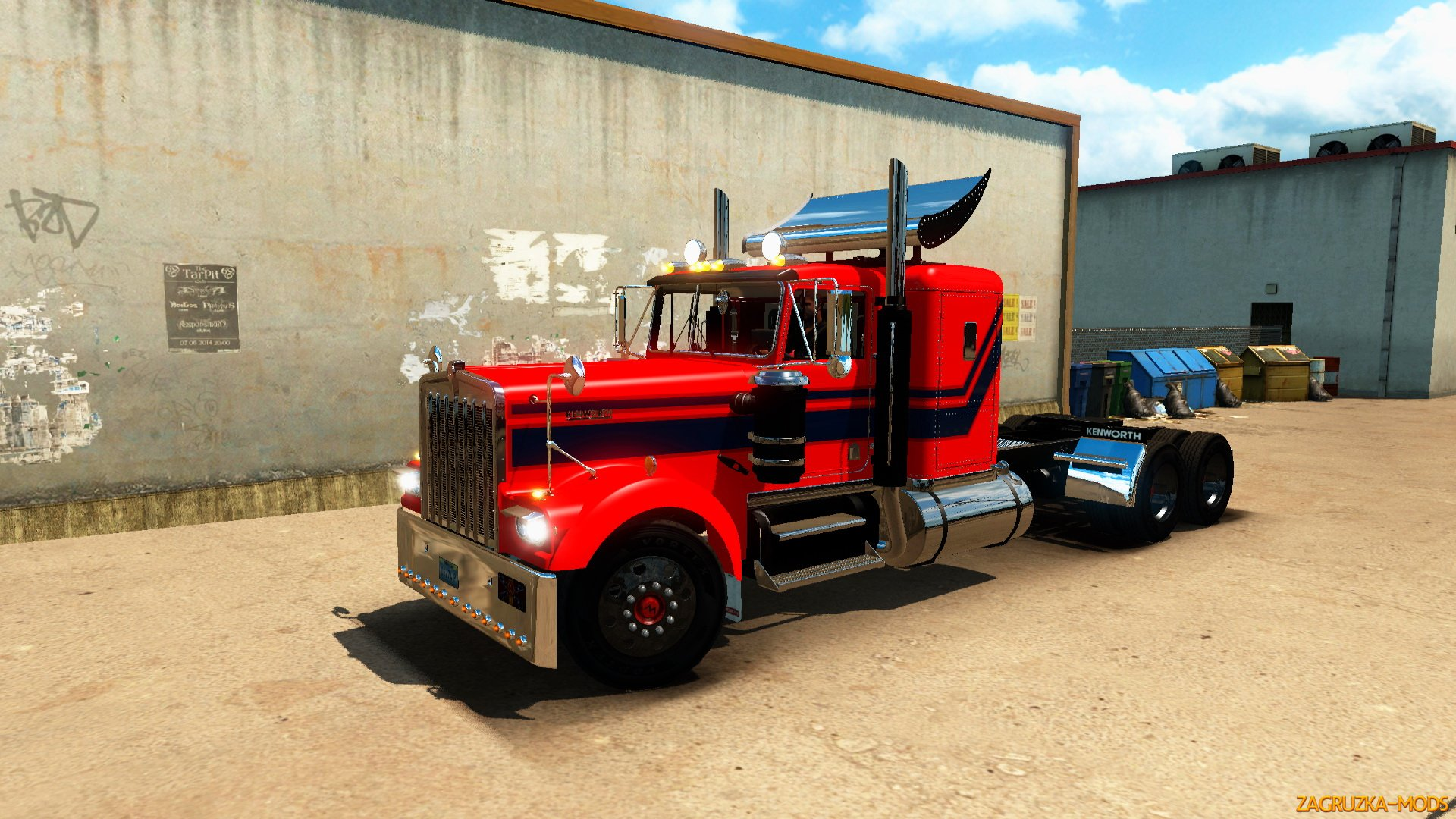 Kenworth W900A 1974 + Interior v4.0 (1.35.x) for ATS