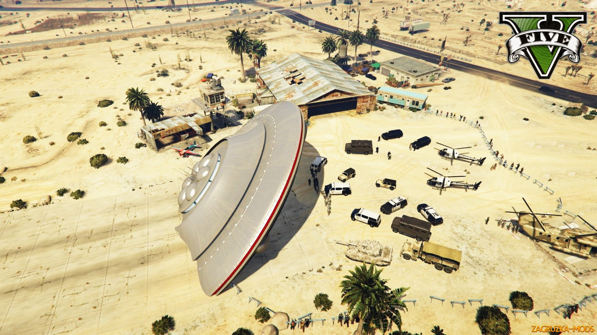 Crashed UFO Scene Map v0.2 for GTA 5