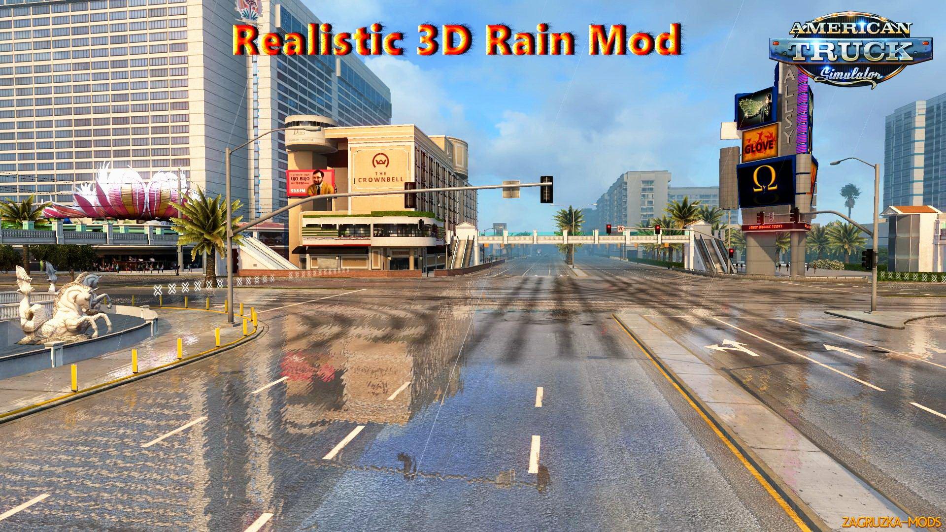 Realistic 3D Rain Mod v1 0 for ATS » Simulator Mods | ETS2
