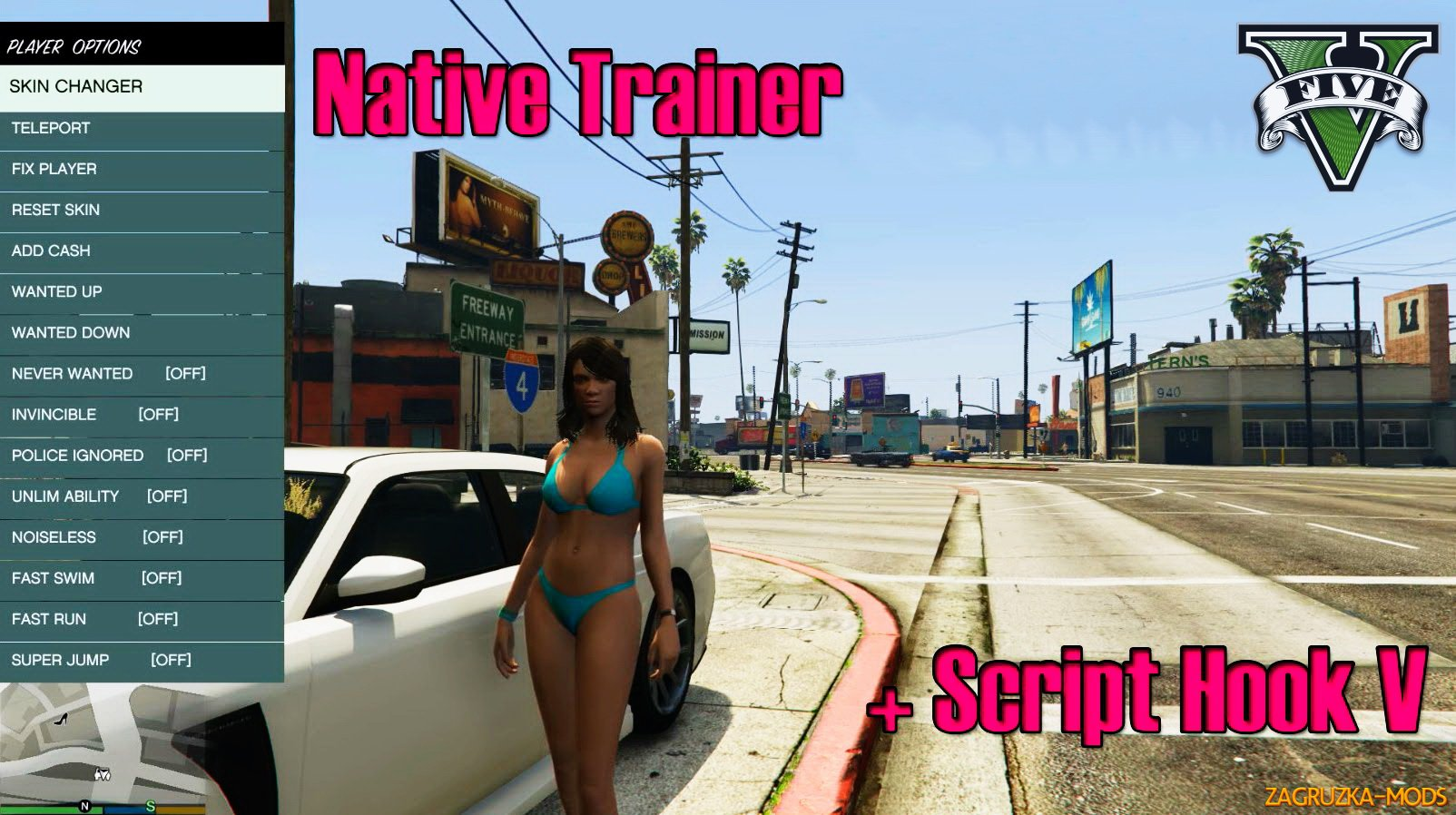 Script Hook V + Native Trainer v1.0.1868.1 for GTA 5