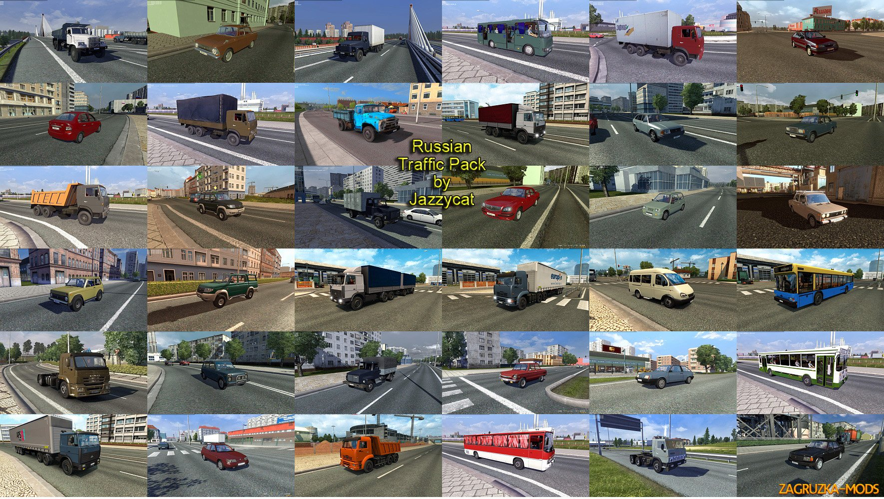 Russian Traffic Pack v1.6.1 by Jazzycat (1.24.x) for ETS 2