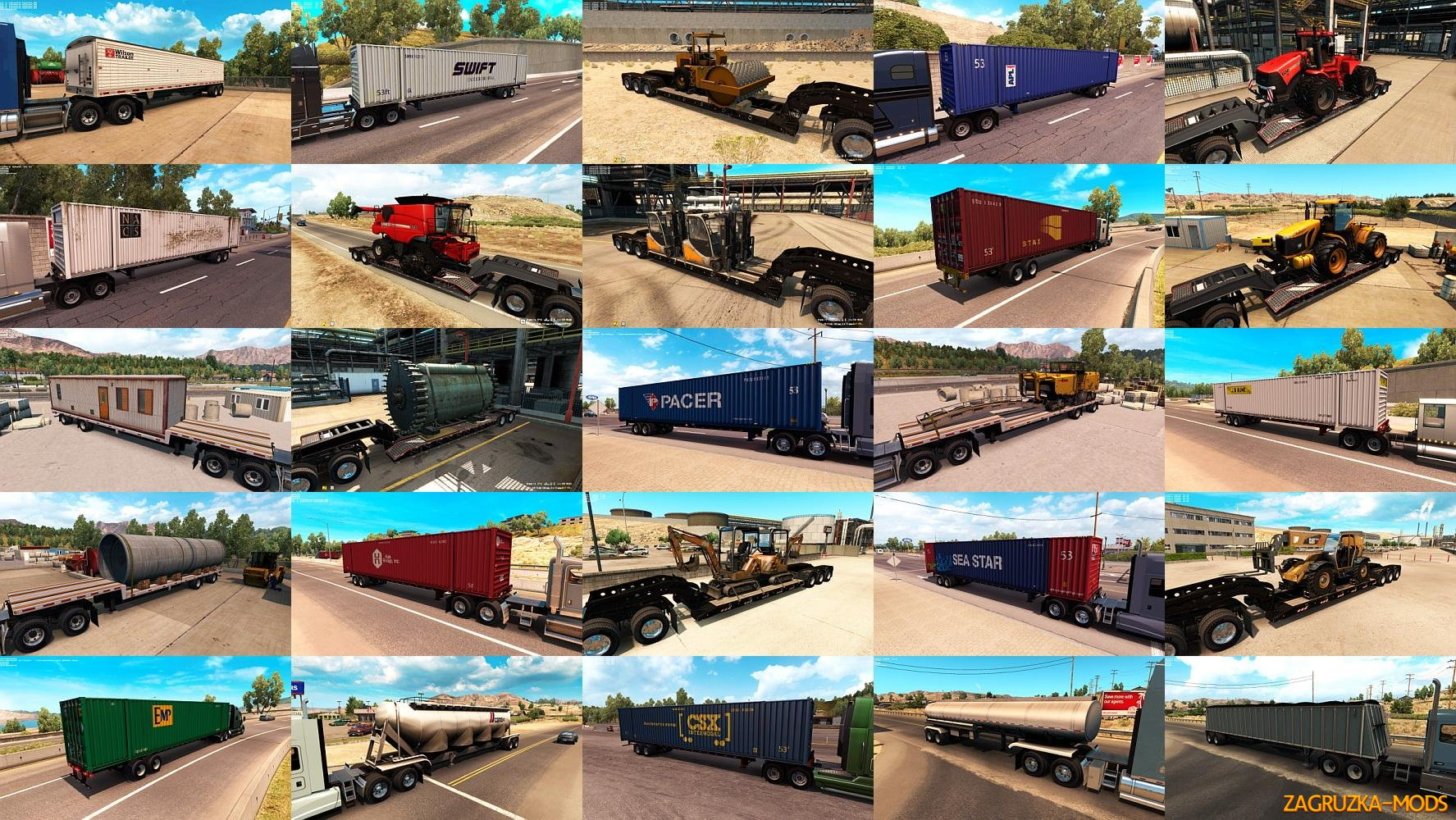 ATS Trailers and cargo pack v1.1 by Jazzycat