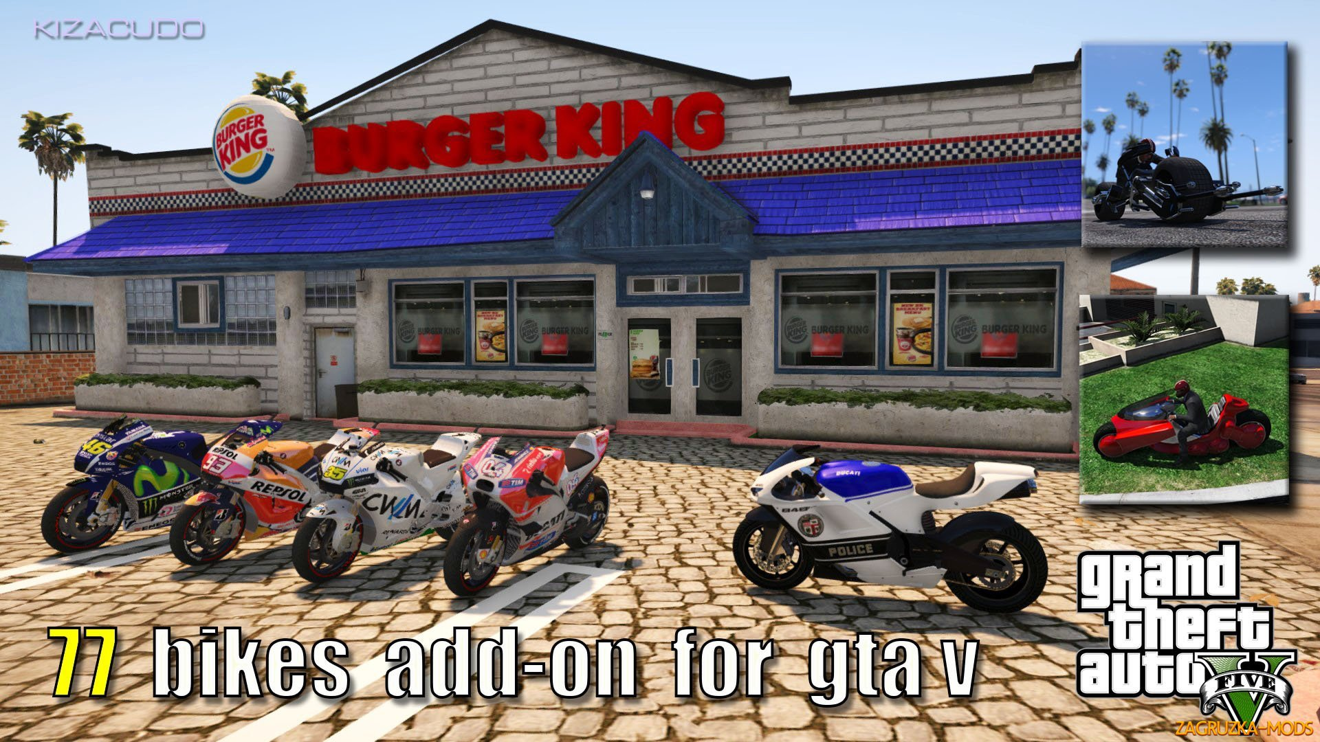 77 Bikes Add-On Compilation Pack v1.0 for GTA 5