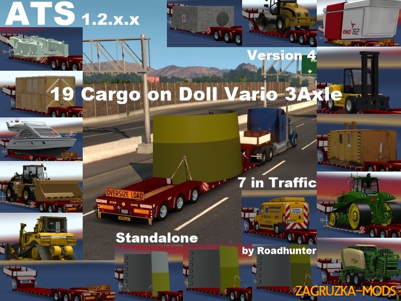 ATS Doll Vario 3Achs with new backlight and in traffic v 4.0