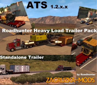 Roadhunter 57 Overweight Trailers Pack v 2.0 for ATS