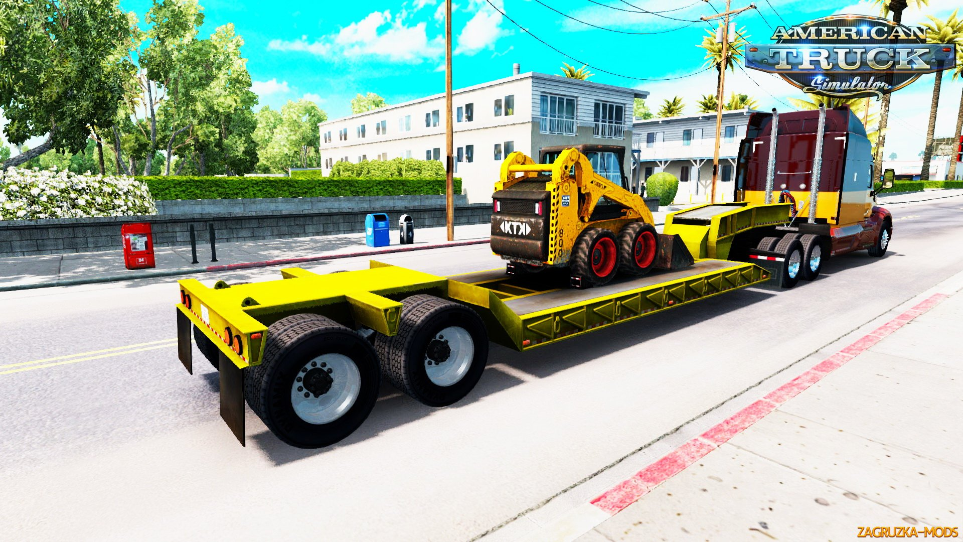Trailer Lowboy Bobcat 800 v1.0 by pit19169 for ATS