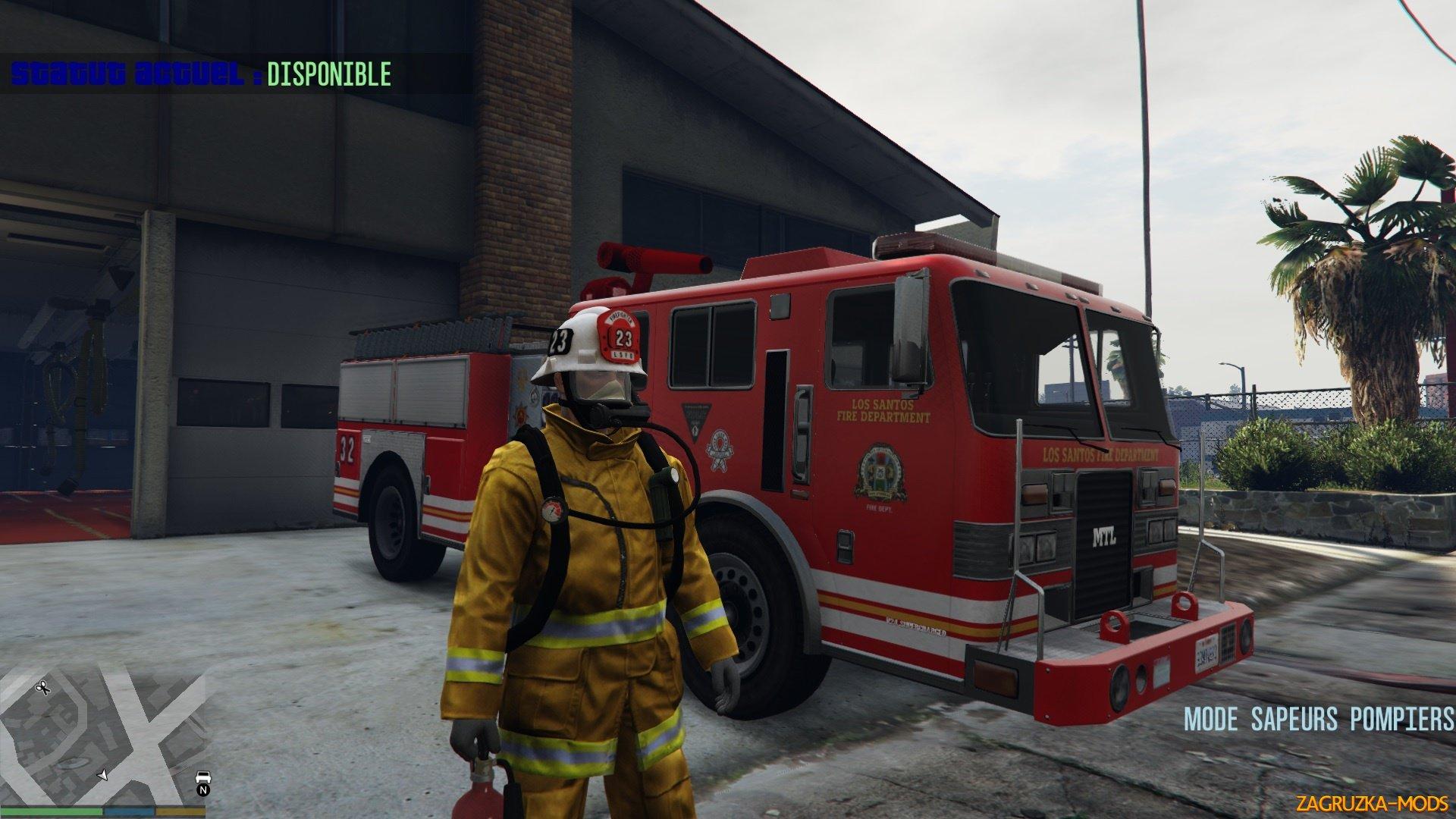 Firefighter Mod (Mode Sapeurs-Pompiers) v2.8 for GTA 5