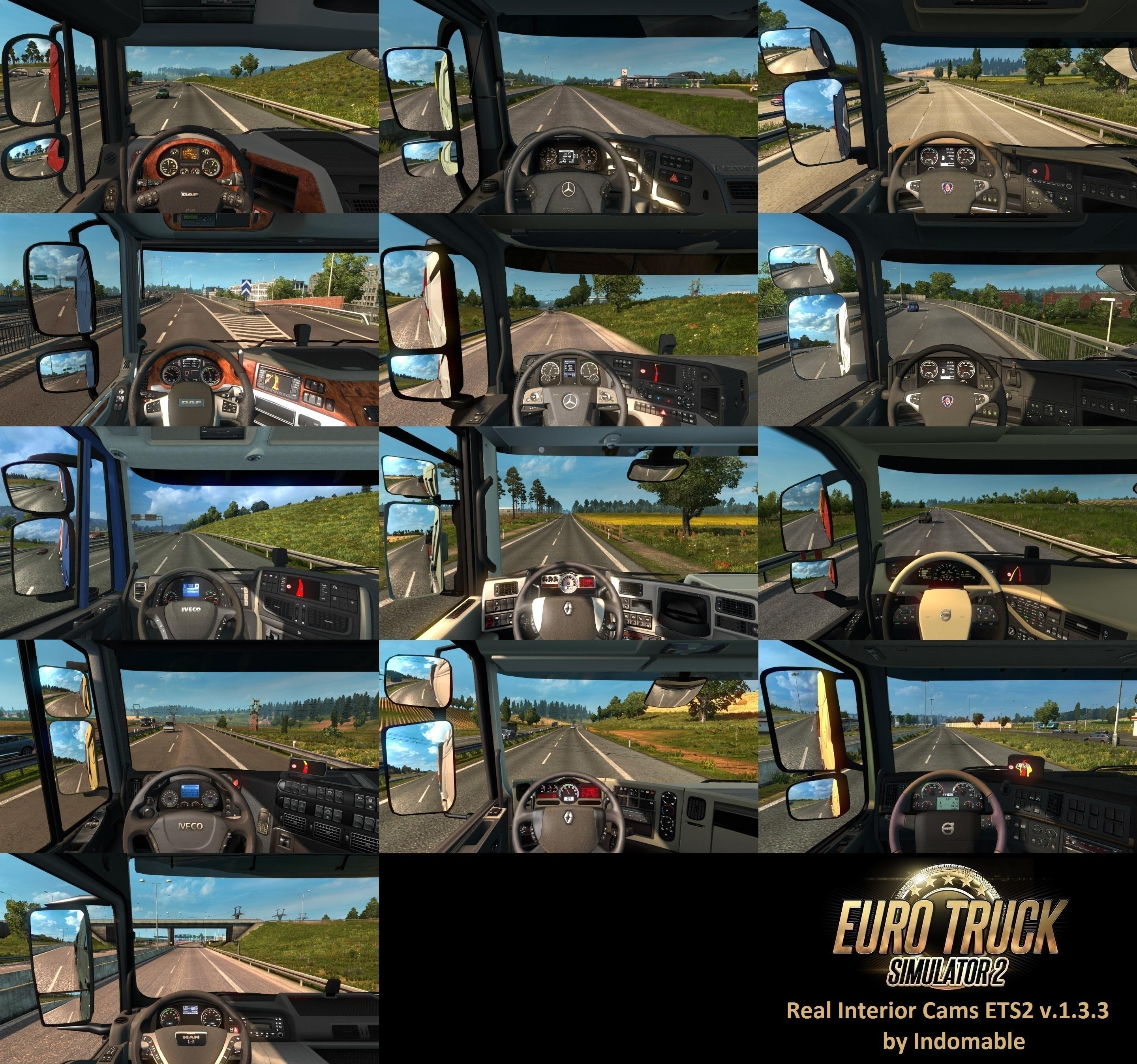 Real Interior Cams ETS2 v1.3.3 by Indomable for ETS 2