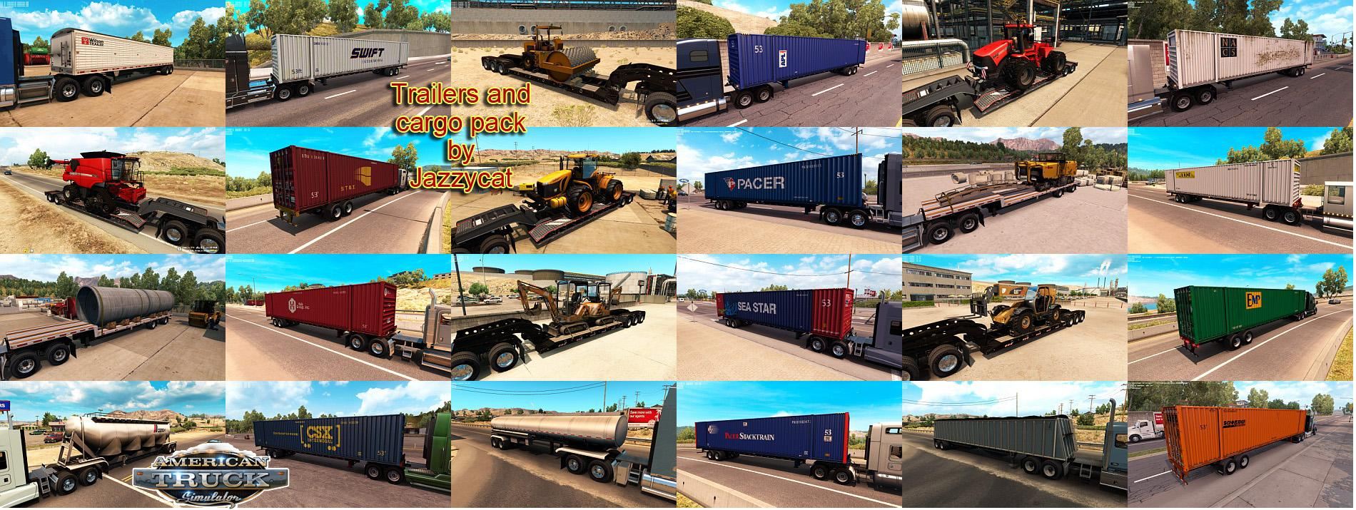 Trailers and cargo pack v1.2 by Jazzycat for ATS