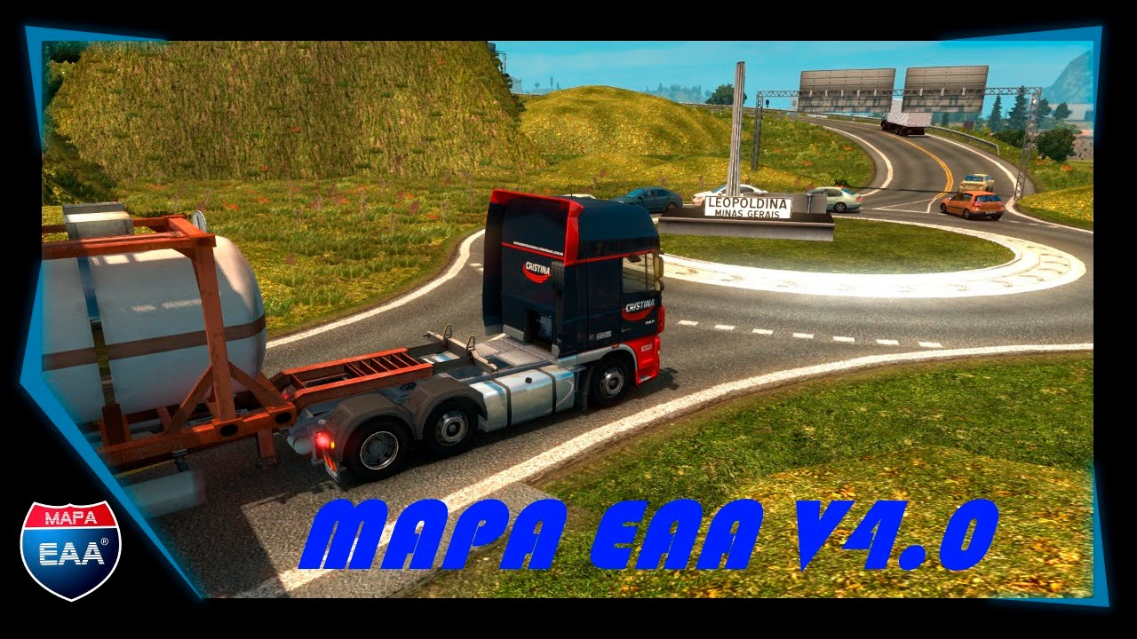 Brasil Map EAA Normal v4.4.2 by EAA Team (1.28.x) for ETS 2