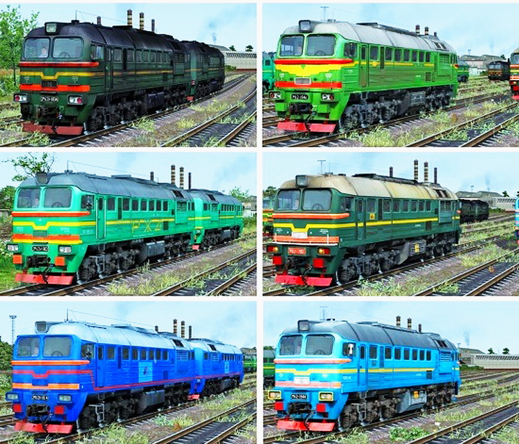 Locomotives Diesel 2M62U, DM62 v1.0 for TS 2016