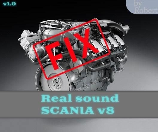 FIX Sound v8 Scania by RobertDRN
