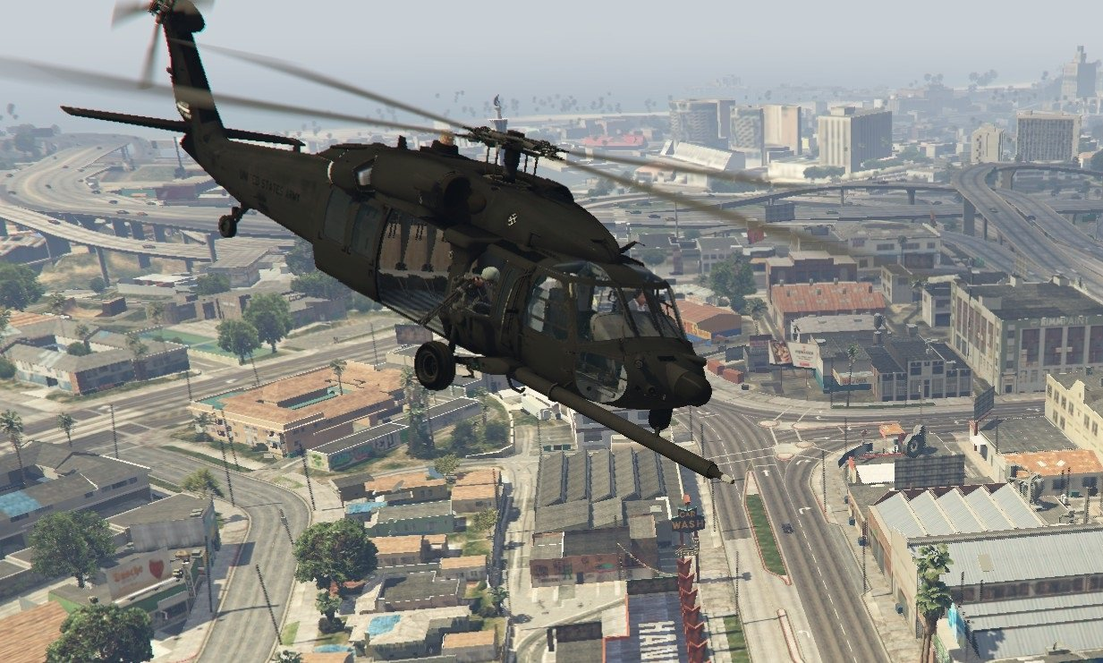 Helicopter MH-60L Black Hawk v1.3. for GTA 5