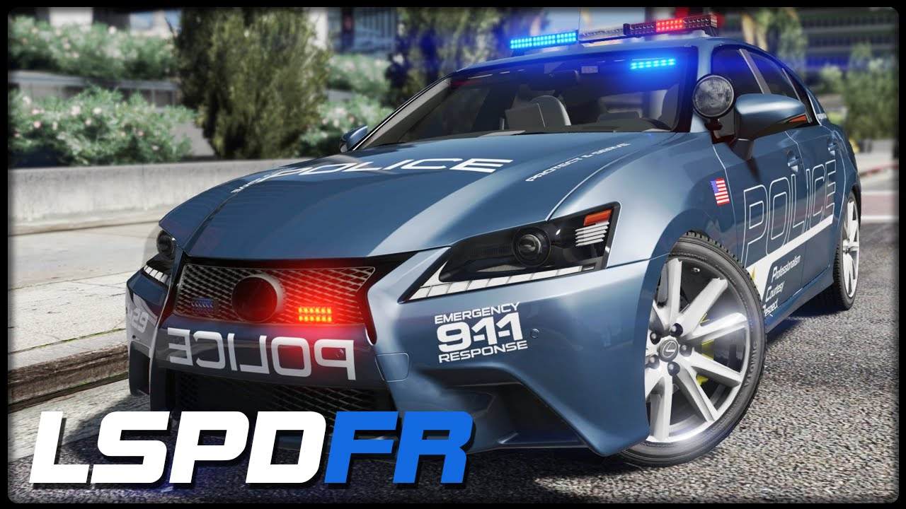 Lexus GS 350 Police Car v2.0 for GTA 5