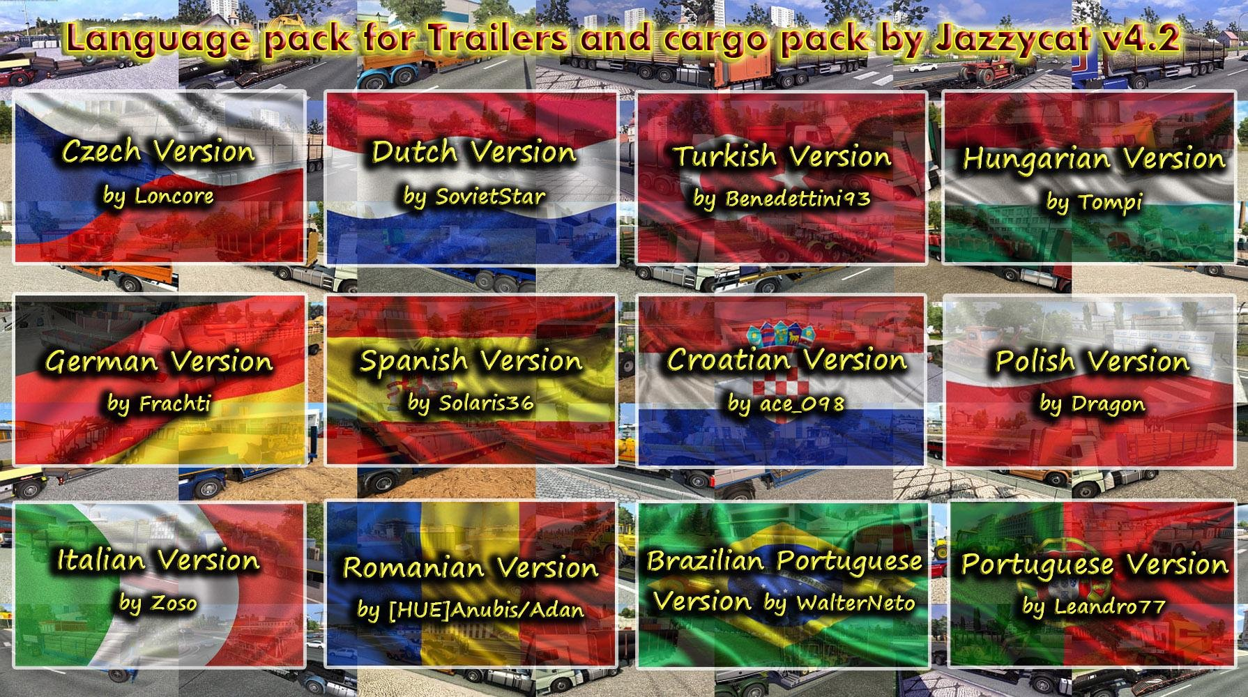 Updated Language Pack for Trailers and Cargo Pack by Jazzycat v 4.2