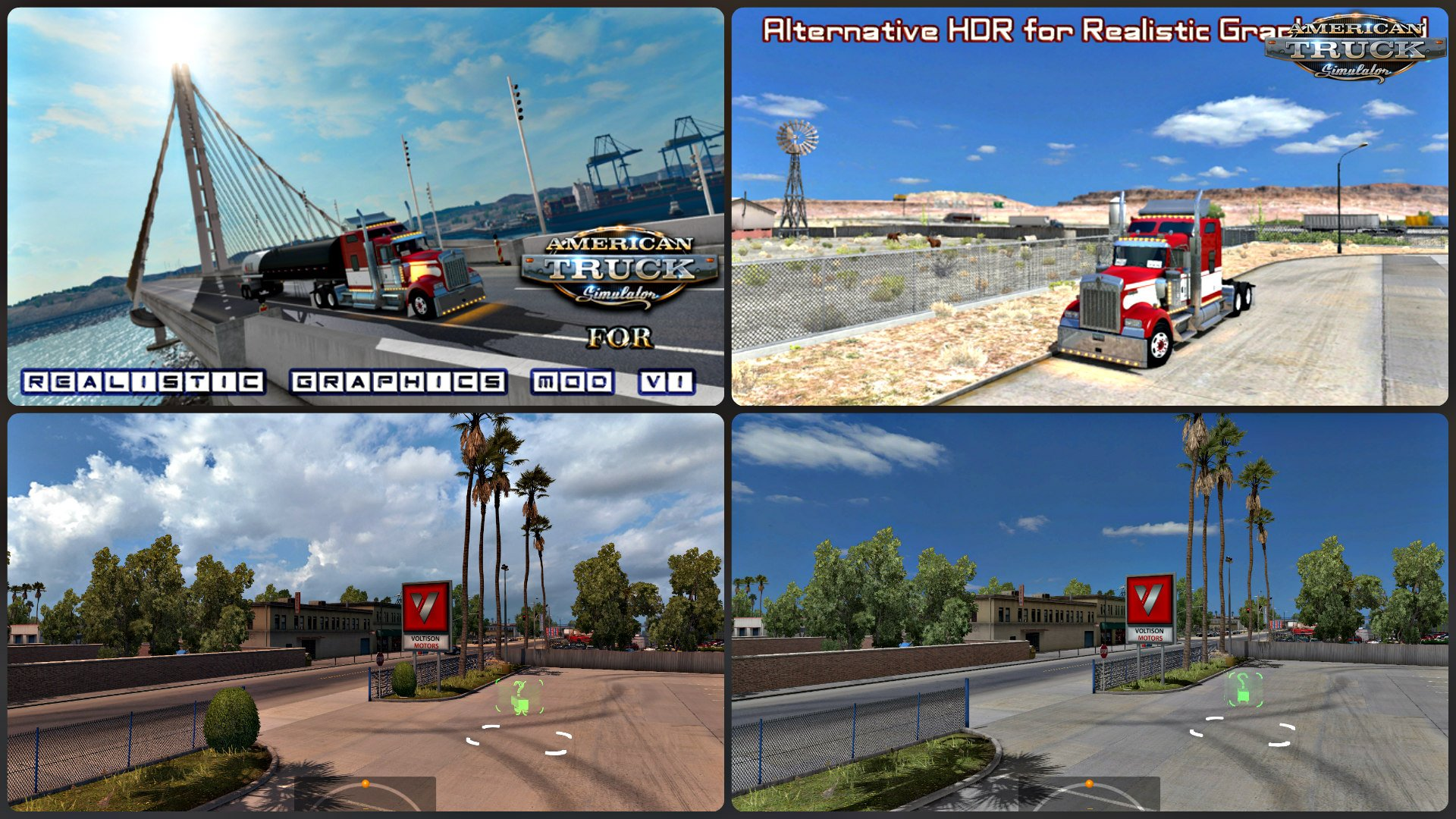 Realistic Graphics Mod v1.4 + Alternative HDR for Realistics Graphics Mod (v1.4.x) for ATS