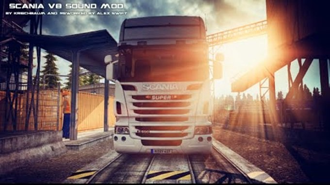 Scania V8 Stock Sound Mod v3.0 for Ets2