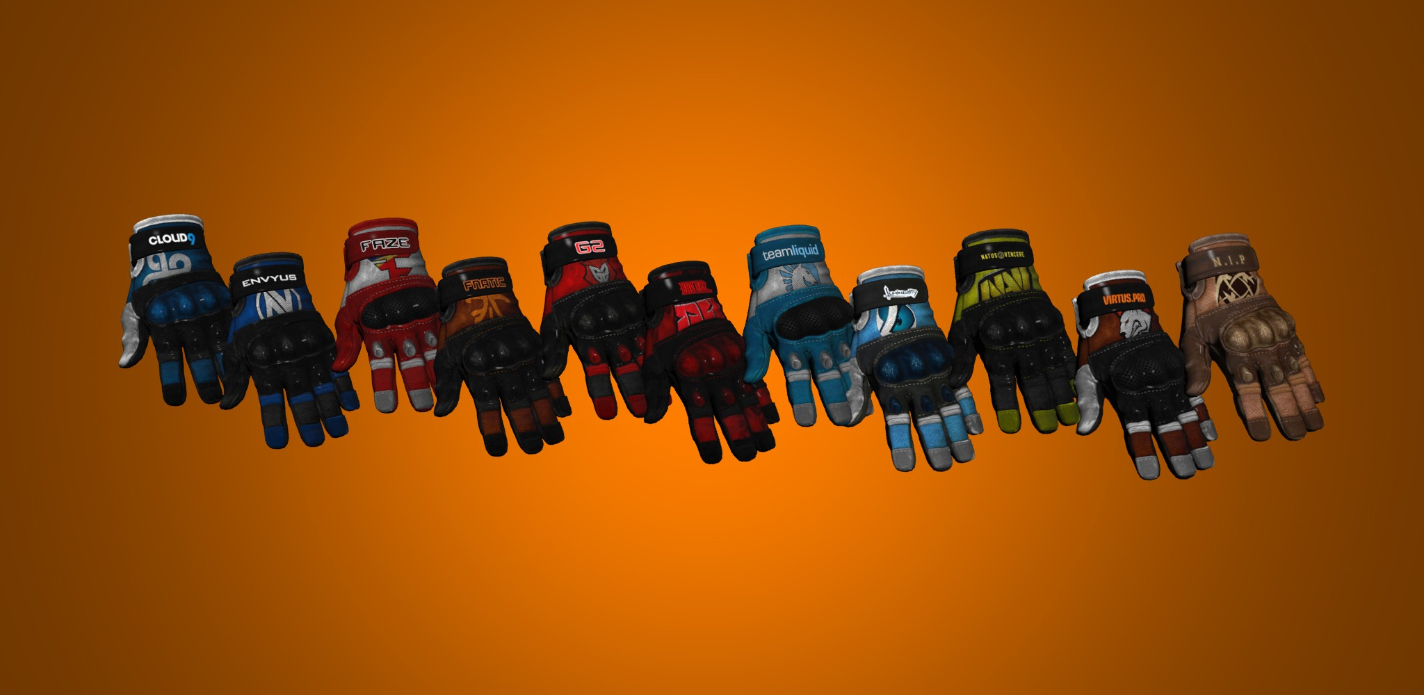 Pro Team Gloves Skins v1.0 for CS:GO