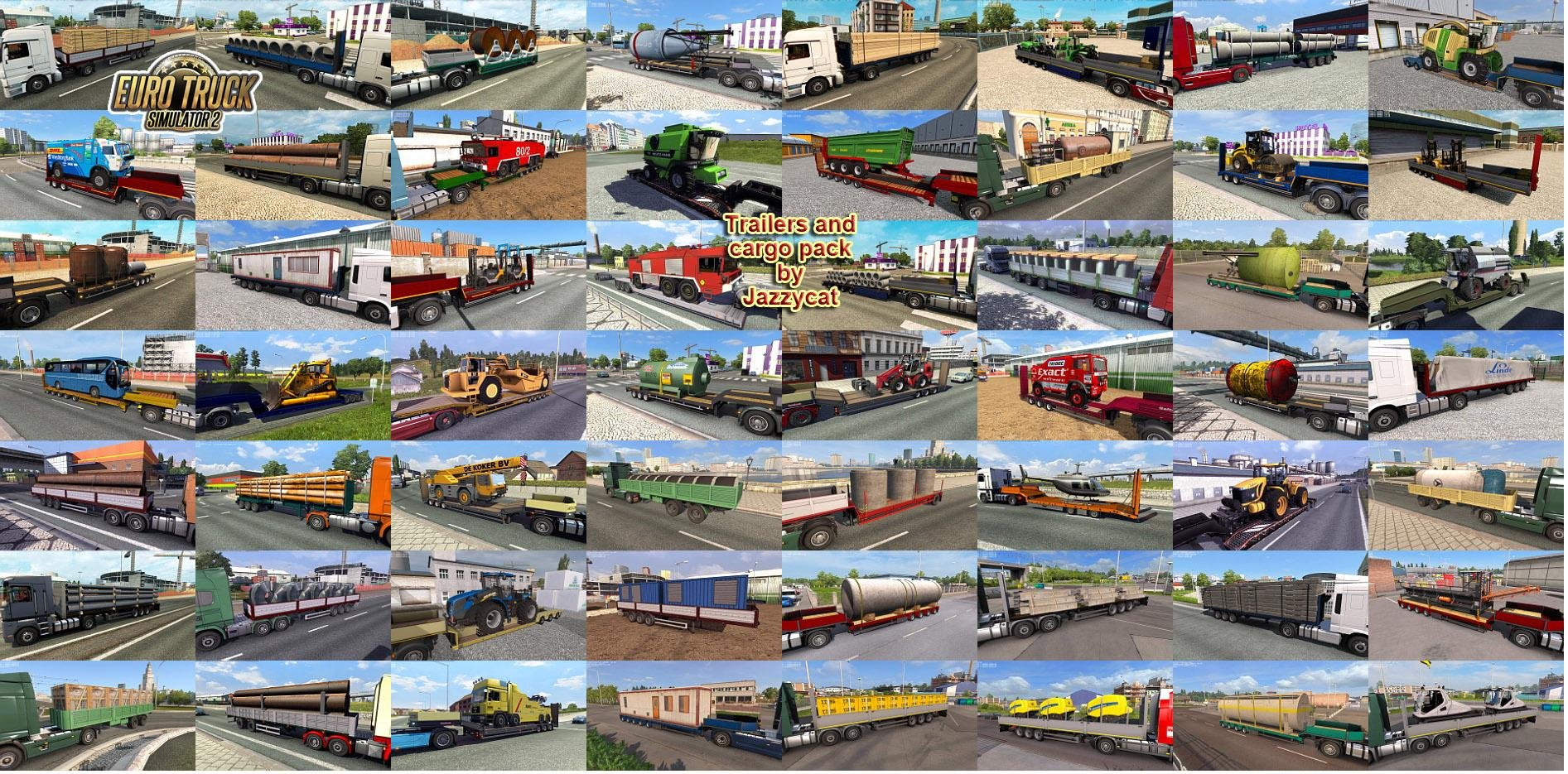 Trailers and cargo pack v4.3 by Jazzycat (1.25.x) for ETS 2