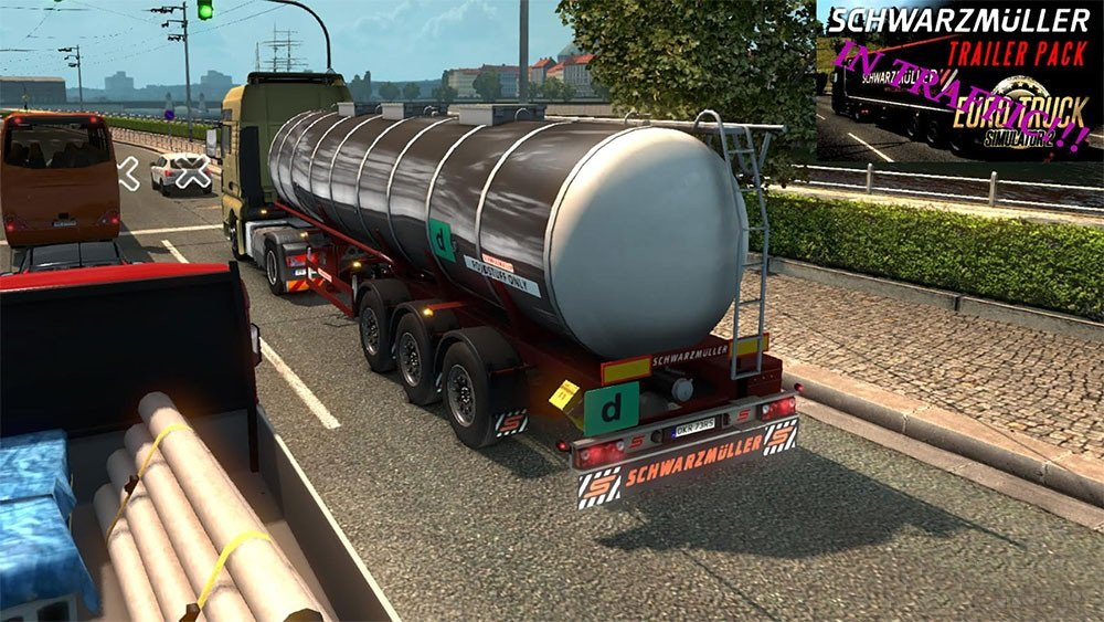 SCS Schwarzmüller Trailer DLC in traffic for Ets2