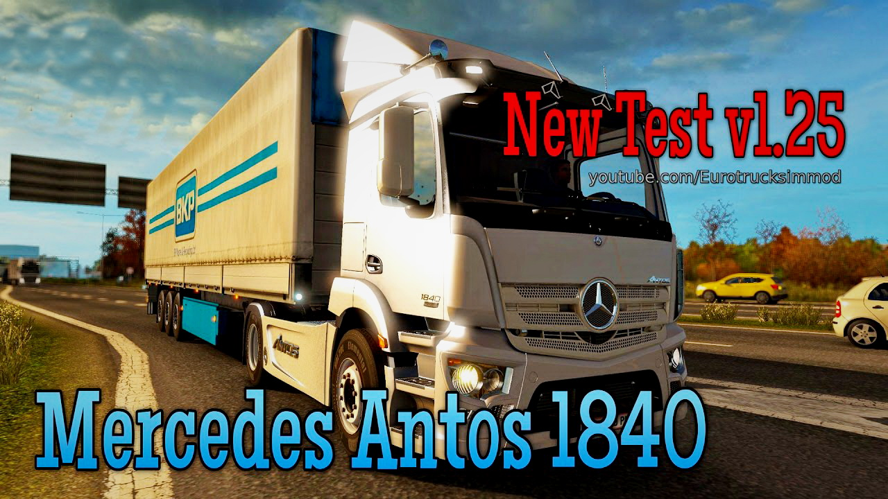 Mercedes Antos 1840 + Interior v1.0 (1.25.) for ETS 2