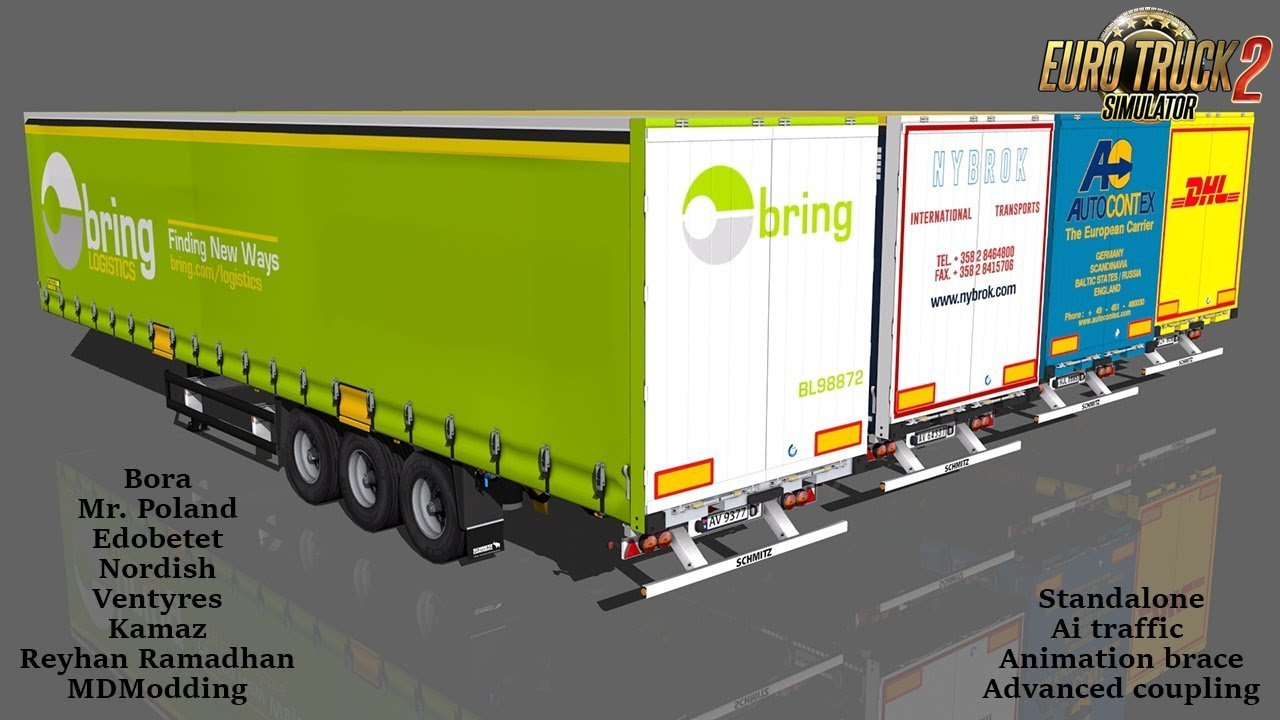 Schmitz Hupa Curtain Trailer v1.1 for Ets2