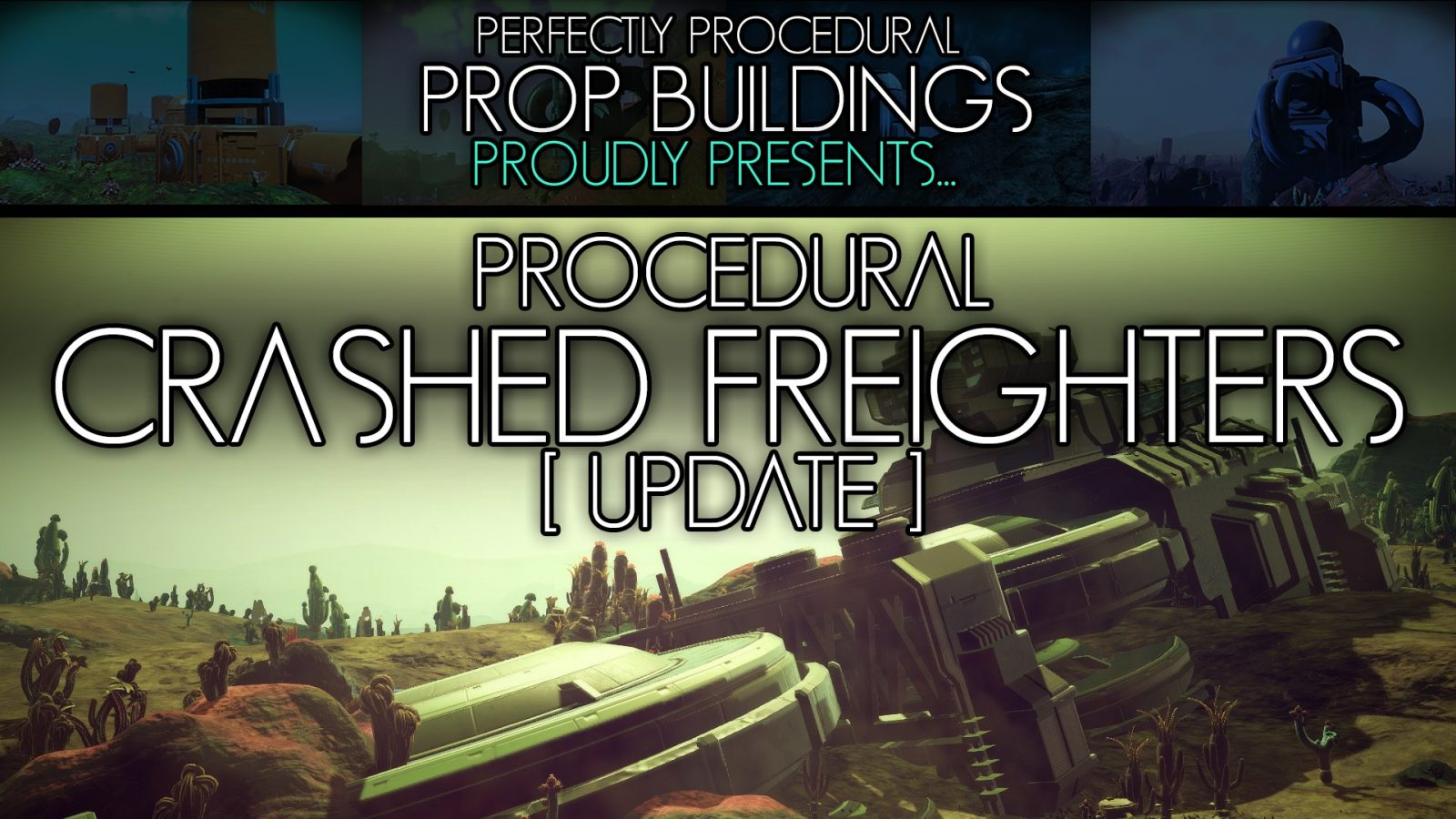 Perfectly Procedural Prop Buildings v1.05 for No Man Sky