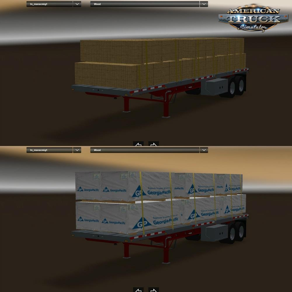Manac 2 Axles Trailer for Ats