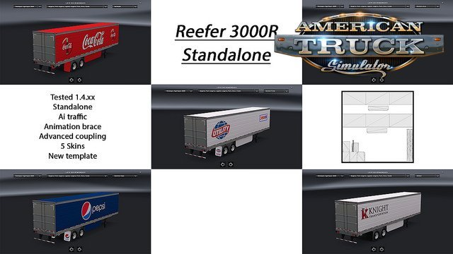 2 trailer Reefer 3000r Standalone and modified for Ats